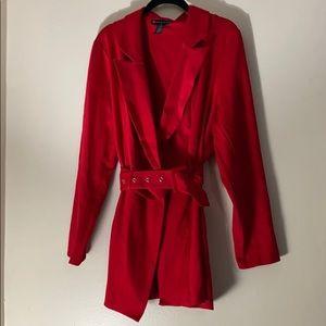 Red Plus sized blazer.